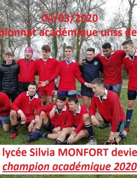 L'équipe de rugby qualifiée pour les championnats de France UNSS !