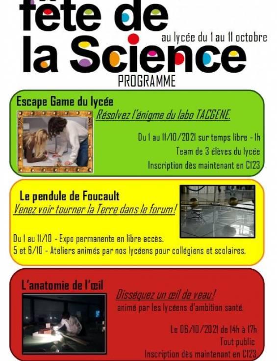 Fête de la Science au lycée Silvia Monfort