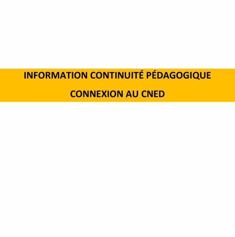 Information continuité pédagogique
