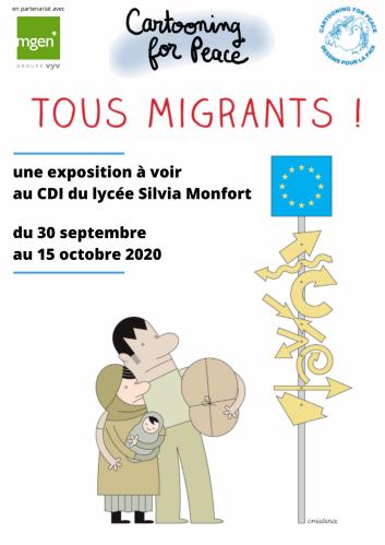 Affiche expo Tous migrants !